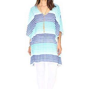 LP Brilliant Blue Tradewind Stripe Pom Pom Caftan